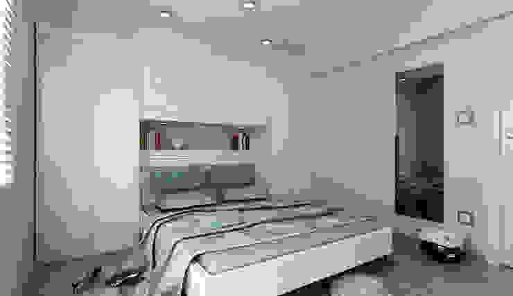 Niyazi Özçakar İç Mimarlık – N.Ö. EVİ:  tarz Yatak Odası, Modern