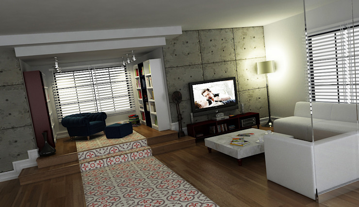 A.Ö. EVİ Modern Oturma Odası Niyazi Özçakar İç Mimarlık Modern