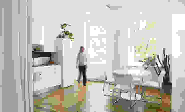 WDG Apartment Renovation in Fshain, Berlin Moderne Küchen von RARE Office Modern