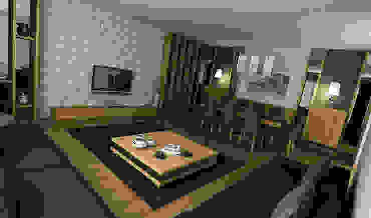 Niyazi Özçakar İç Mimarlık 现代客厅設計點子、靈感 & 圖片
