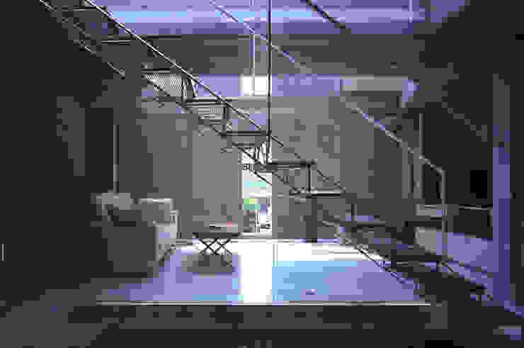 旗竿敷地の鉄筋コンクリートの家 モダンスタイルの 玄関&廊下&階段 の スタジオ4設計 モダン