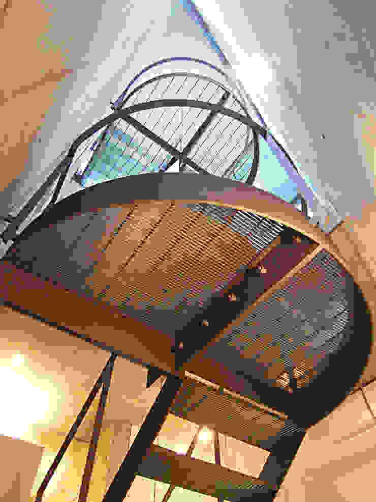 都市型貸店舗付狭小住宅 モダンスタイルの 玄関&廊下&階段 の スタジオ4設計 モダン