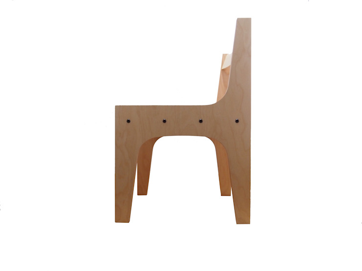 Vertical birch chair : AtelierorB  が手掛けた工業用です。,インダストリアル