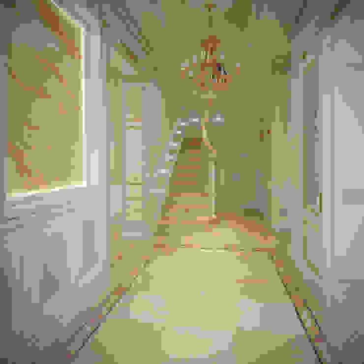 г. Минск п. Ратомка Коридор, прихожая и лестница в классическом стиле от Студия Дизайна Интерьера MALGRIM Классический