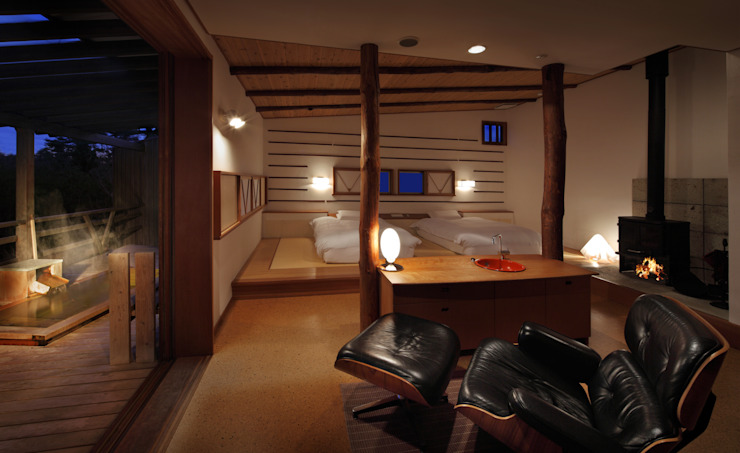 客室 さとの間 : Room SATONOMA TAKA建築設計室 オリジナルなホテル