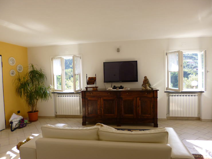 Casa degli ulivi, vivere fra terra a mare. Moneglia (Genova) Soggiorno eclettico di BaBo Design - Barbara Sabrina Borello Eclettico