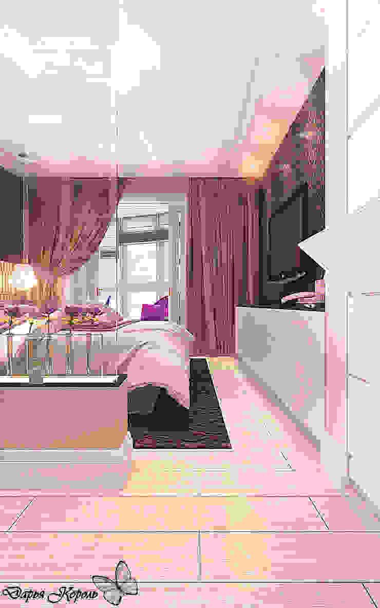 bedroom with dressing room Спальня в эклектичном стиле от Your royal design Эклектичный