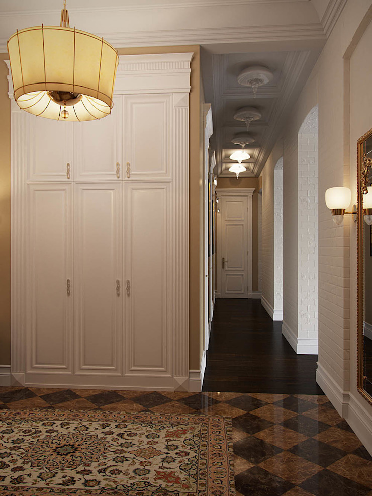 Eclectic style corridor, hallway & stairs by Архитектурное бюро Андрея Стубе Eclectic