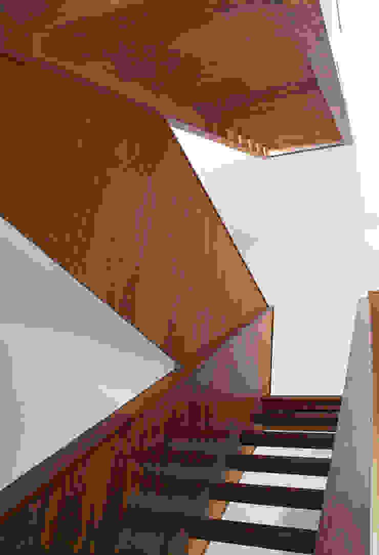 Wooden Stairway Minimalist corridor, hallway & stairs by Ed Reeve Minimalist