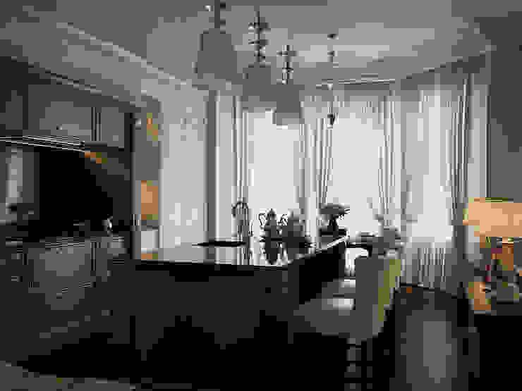 Nhà bếp phong cách chiết trung bởi Архитектурное бюро Андрея Стубе Chiết trung