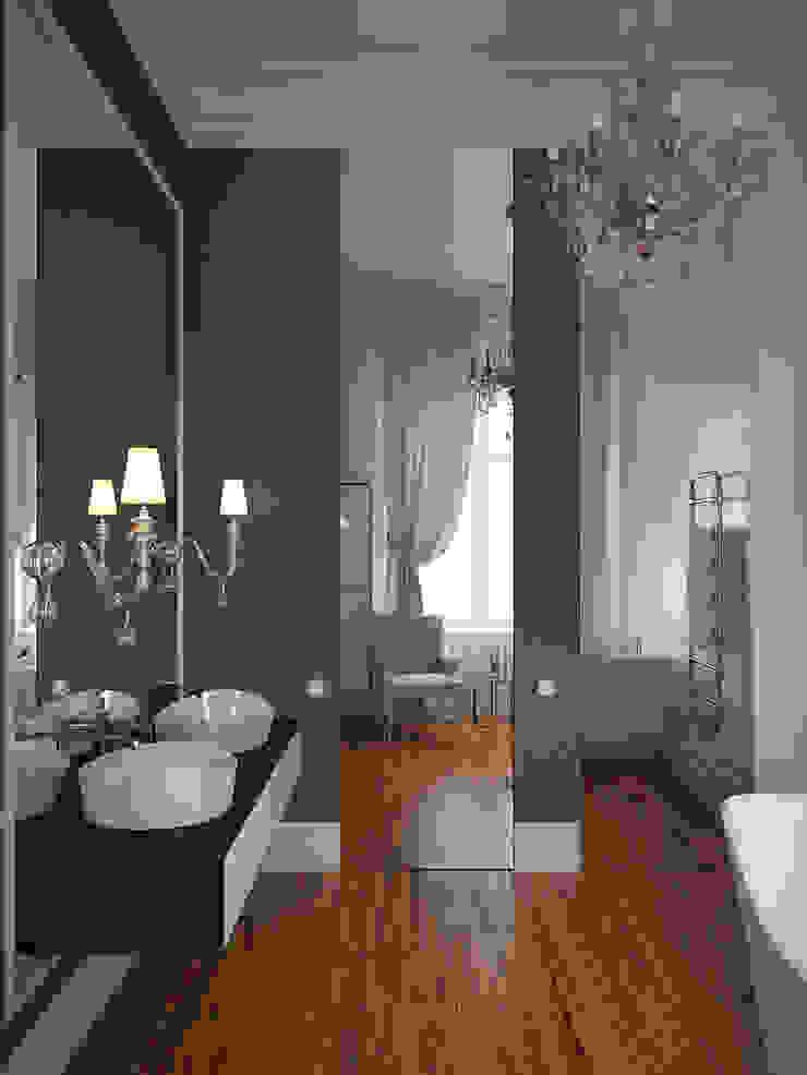 Salle de bain originale par Архитектурное бюро Андрея Стубе Éclectique