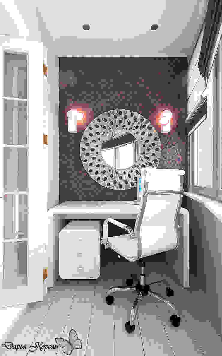 bedroom with dressing room Балконы и веранды в эклектичном стиле от Your royal design Эклектичный