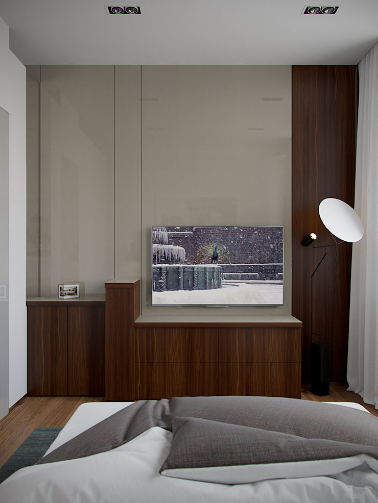 Архитектурное бюро Андрея Стубе Modern style bedroom