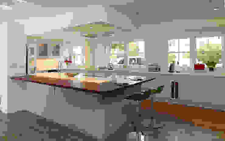 Stylish kitchen in Hertfordshire. Modern kitchen by John Ladbury and Company Modern