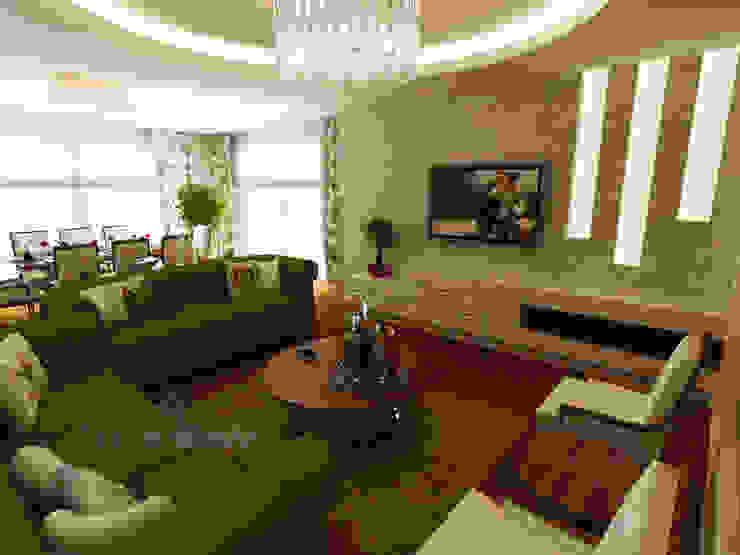 K. YILMAZ EVİ Klasik Oturma Odası Teknik Sanat İç Mimarlık Renovasyon Ltd. Şti. Klasik