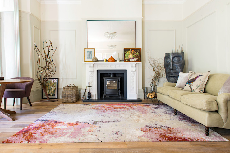 Walls & flooring by Knots Rugs,