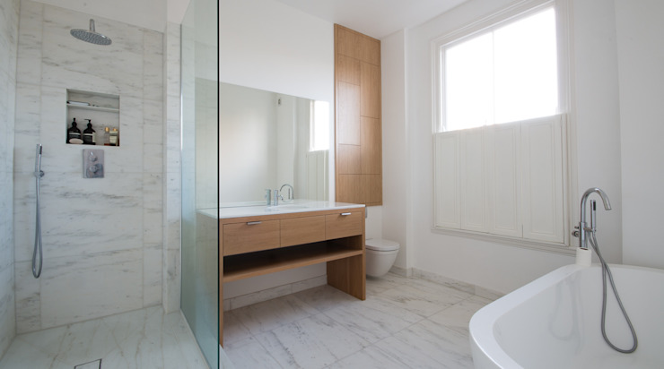 union square bathroom Modern bathroom by Powell Picano Modern