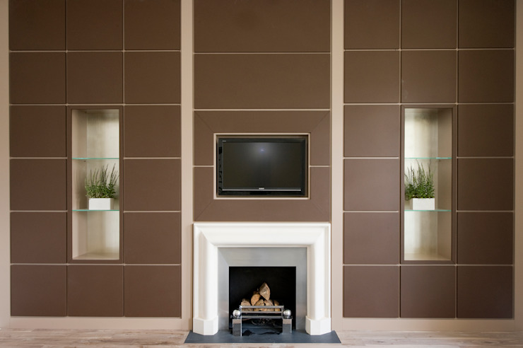 Lancaster Gate Modern Media Room by Simply Italian Modern