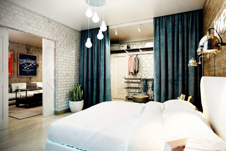 Industrial style bedroom by CO:interior Industrial