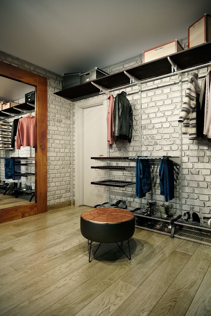 Industrial style dressing rooms by CO:interior Industrial