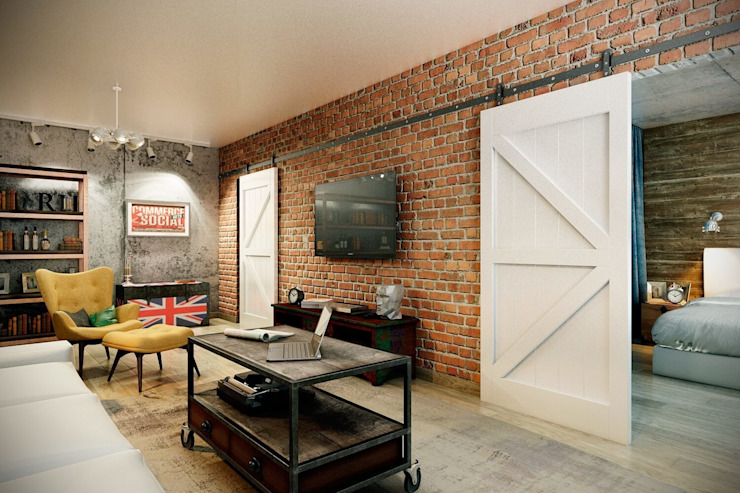 Living room by CO:interior, Industrial