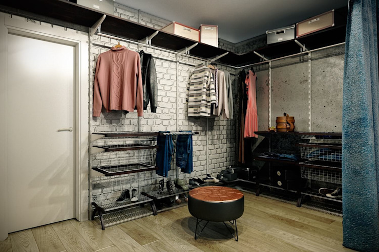 Industrial style dressing room by CO:interior Industrial