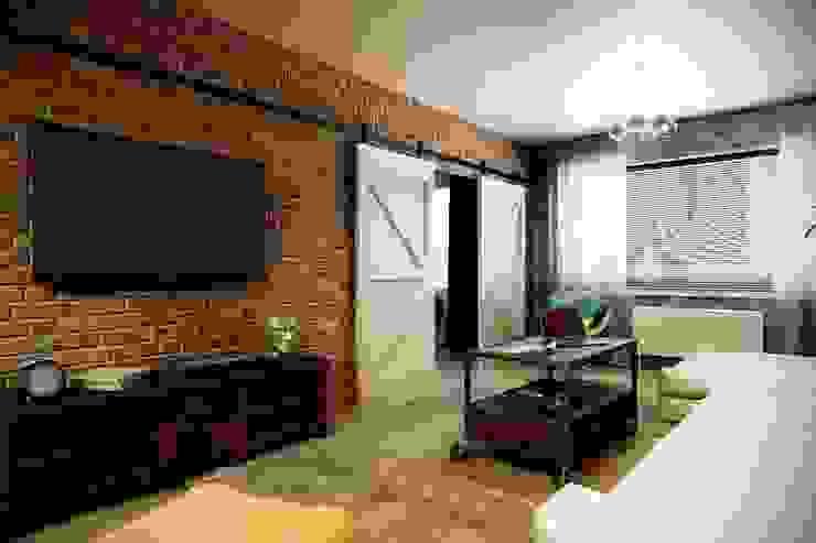 Каменный лофт Гостиная в стиле лофт от CO:interior Лофт