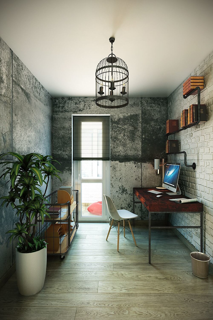 Industrial style study/office by CO:interior Industrial