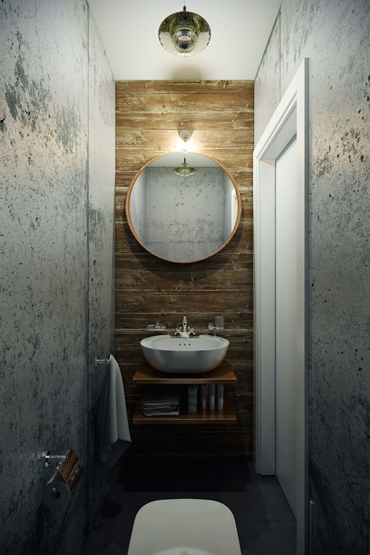 Industrial style bathrooms by CO:interior Industrial