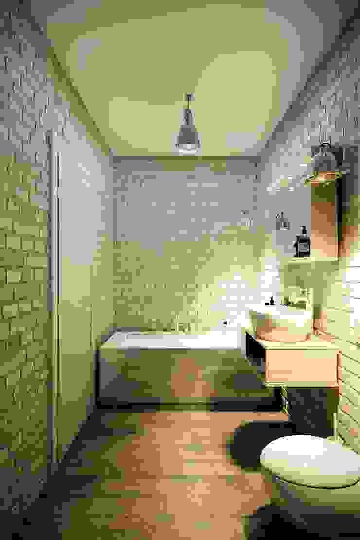 Baños de estilo industrial de CO:interior Industrial