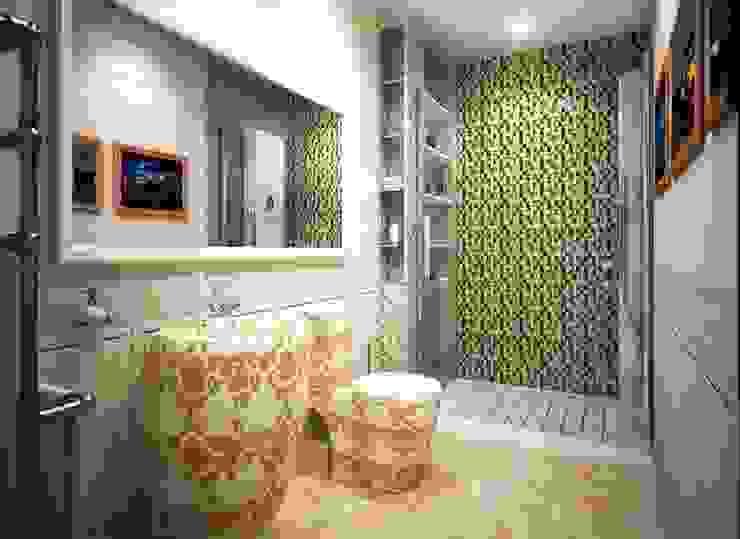 Дизайн интерьера санузла в современном стиле Альбина Романова Ванная комната в эклектичном стиле
