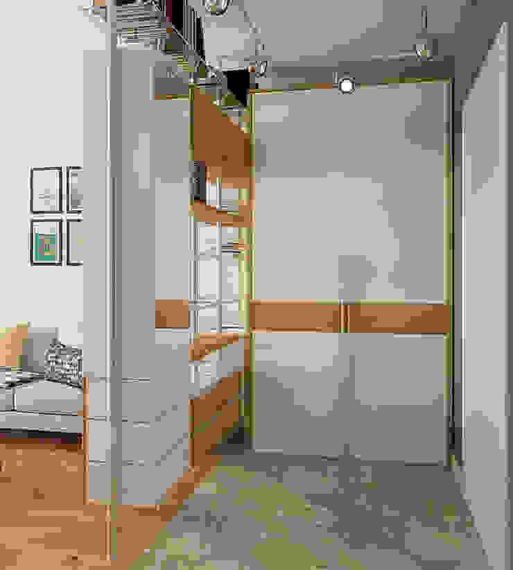 Деревянная шкатулка Коридор, прихожая и лестница в скандинавском стиле от CO:interior Скандинавский