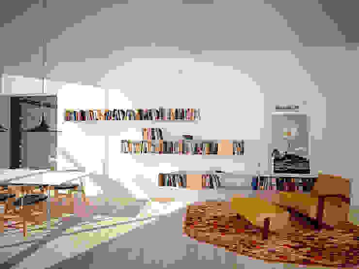 Dom WB Skandynawski salon od PB/STUDIO Skandynawski