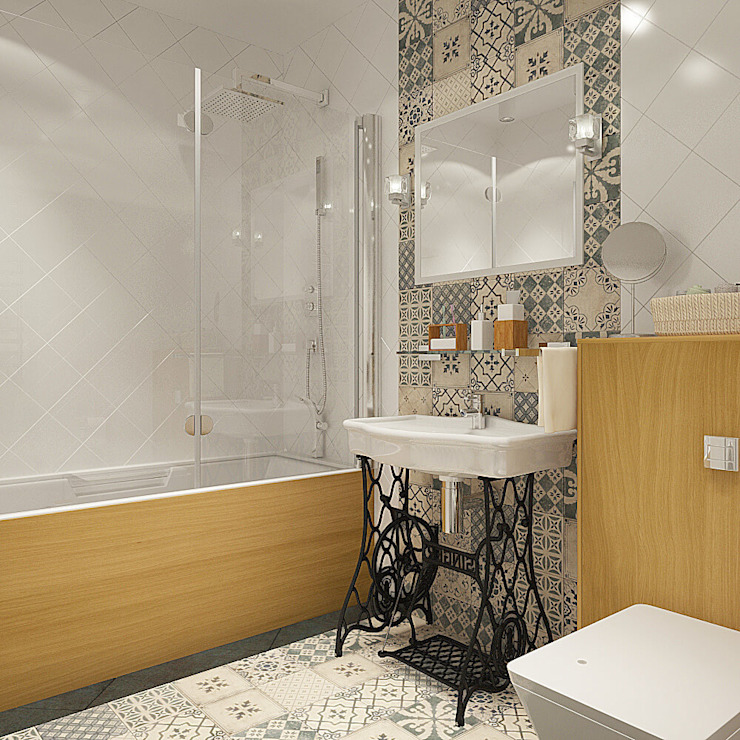 Деревянная шкатулка Ванная комната в скандинавском стиле от CO:interior Скандинавский