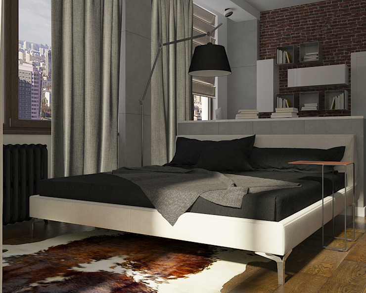 Активные акценты Спальня в стиле лофт от CO:interior Лофт