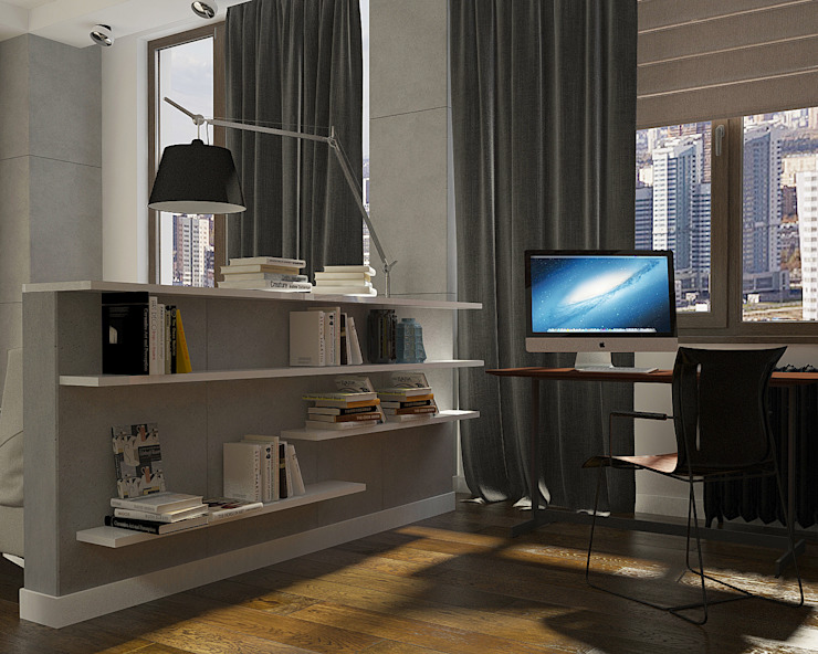 Активные акценты Рабочий кабинет в стиле лофт от CO:interior Лофт