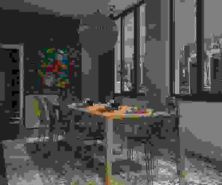 Активные акценты Столовая комната в стиле лофт от CO:interior Лофт