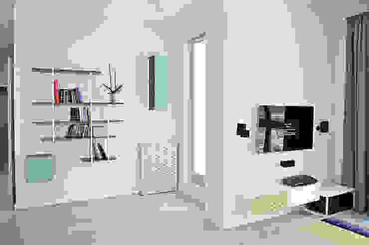 Apartament SW Skandynawski salon od PB/STUDIO Skandynawski
