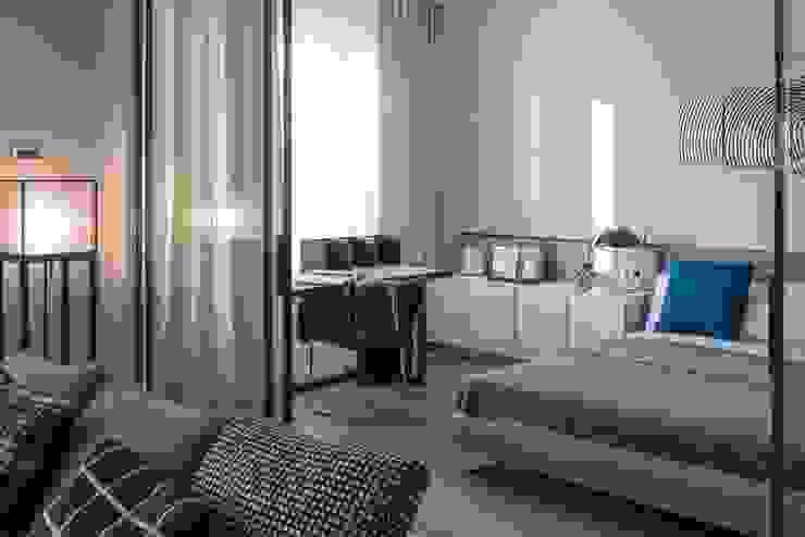 Квартира 89 м2, в жилом комплексе <q>Английский квартал</q> Спальня в эклектичном стиле от Дизайн-бюро Галины Микулик Эклектичный