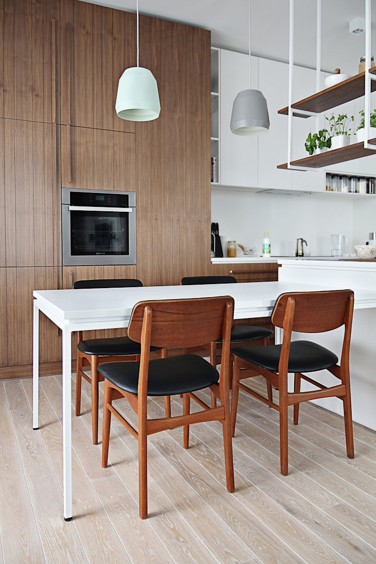 Apartament SW Skandynawska jadalnia od PB/STUDIO Skandynawski