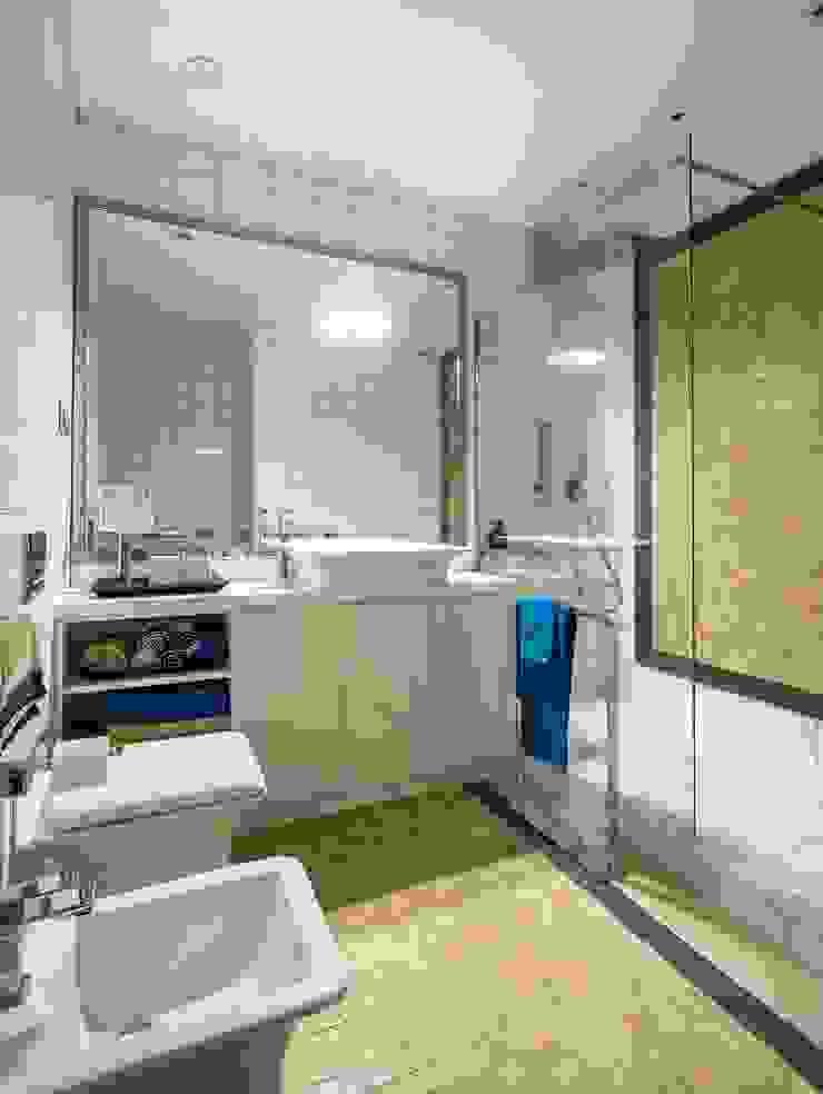 Квартира 89 м2, в жилом комплексе <q>Английский квартал</q> Ванная комната в эклектичном стиле от Дизайн-бюро Галины Микулик Эклектичный