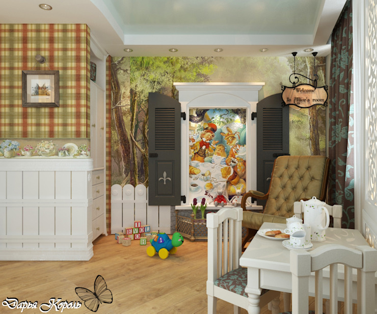 "room for girls ""Alice in Wonderland"" Kamar Bayi/Anak Gaya Country Oleh Your royal design Country"