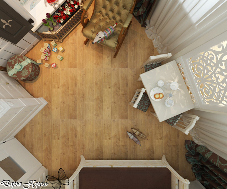 room for girls <q>Alice in Wonderland</q> Детская комнатa в стиле кантри от Your royal design Кантри