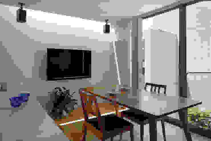 غرفة السفرة تنفيذ 長浜信幸建築設計事務所 , حداثي