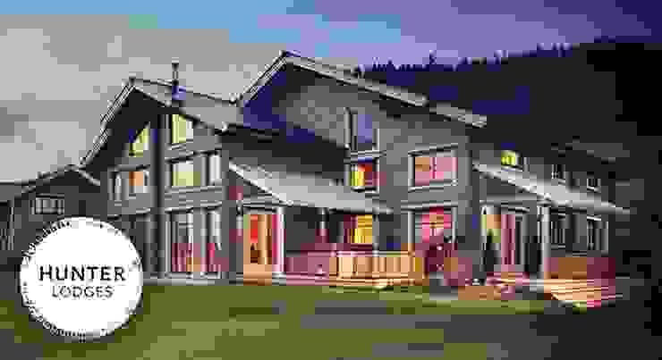 Hunter Lodges at Celtic Manor Resort Scandinavian style houses by Lodgico Ltd Scandinavian
