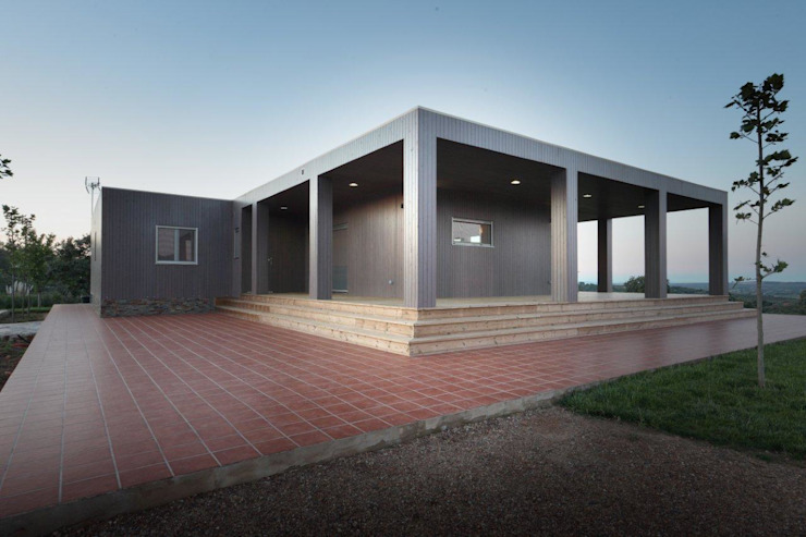 Exterior casa de Madera Natura Blu 195 Casas de estilo moderno de Casas Natura Moderno