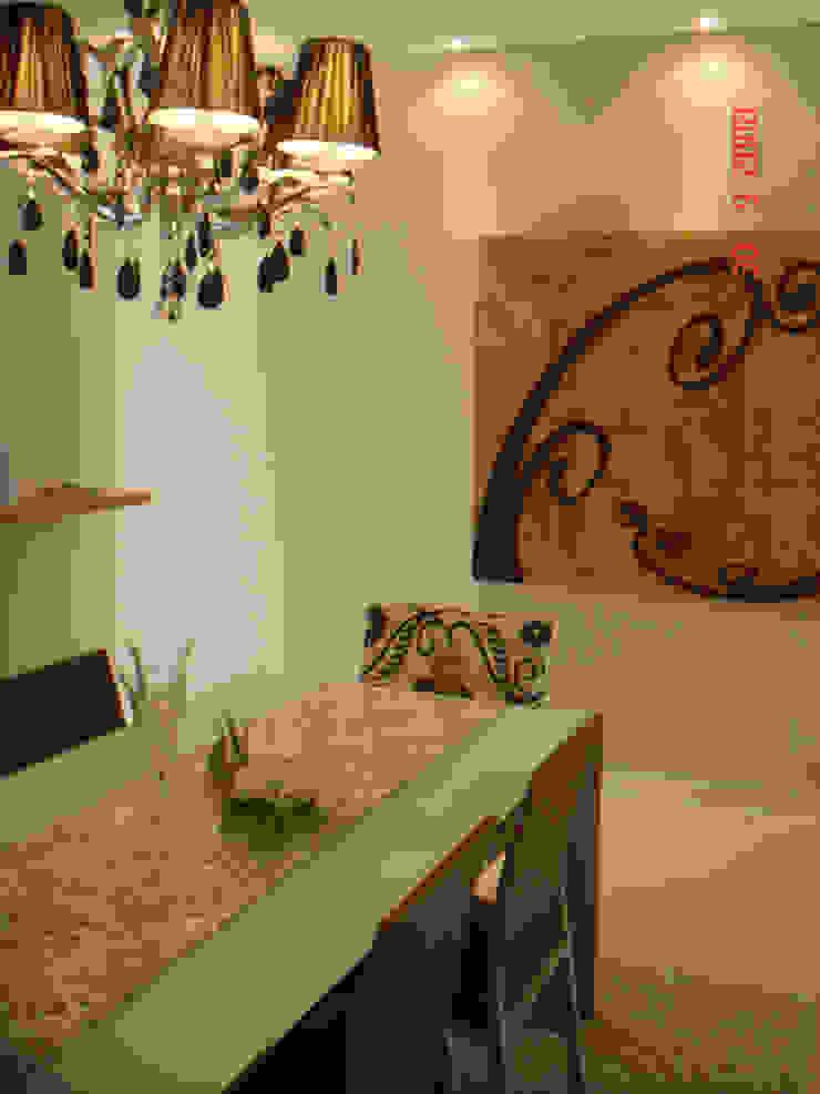 Projeto arquitetonico do apartamento decorado do Green Village Residence Salas de jantar ecléticas por ArchDesign STUDIO Eclético