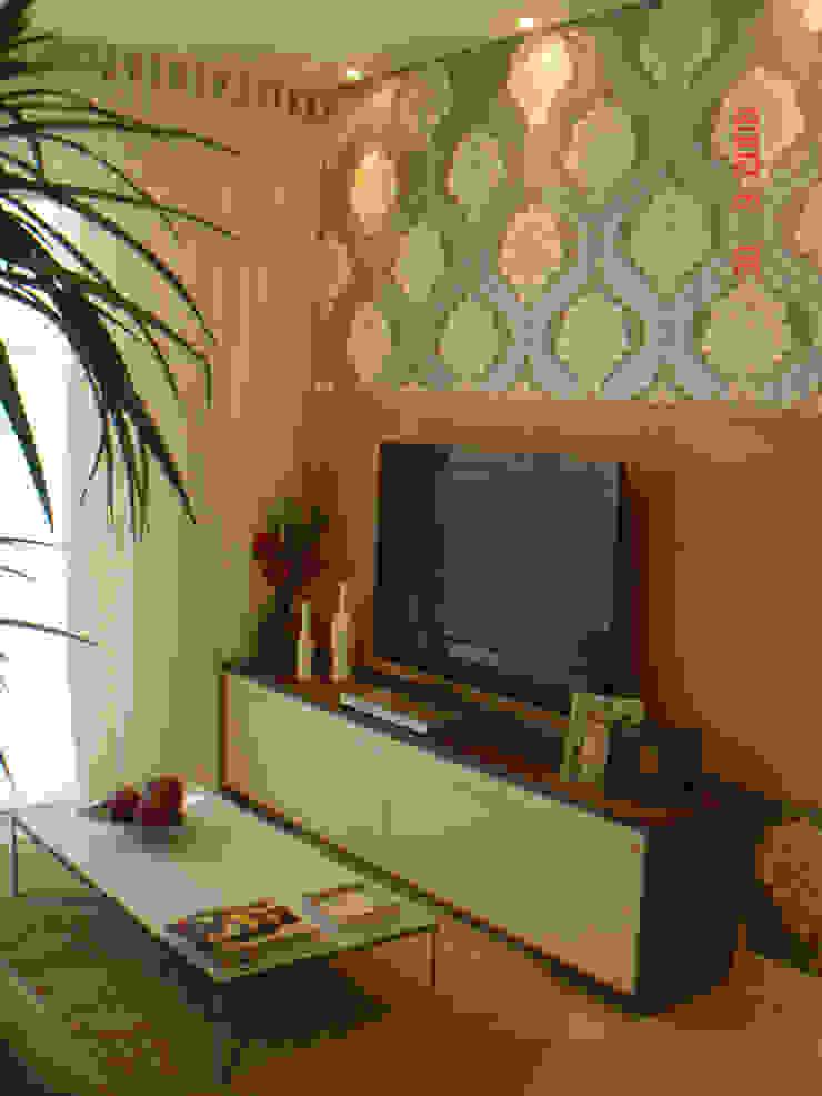 Projeto arquitetonico do apartamento decorado do Green Village Residence Salas de estar ecléticas por ArchDesign STUDIO Eclético