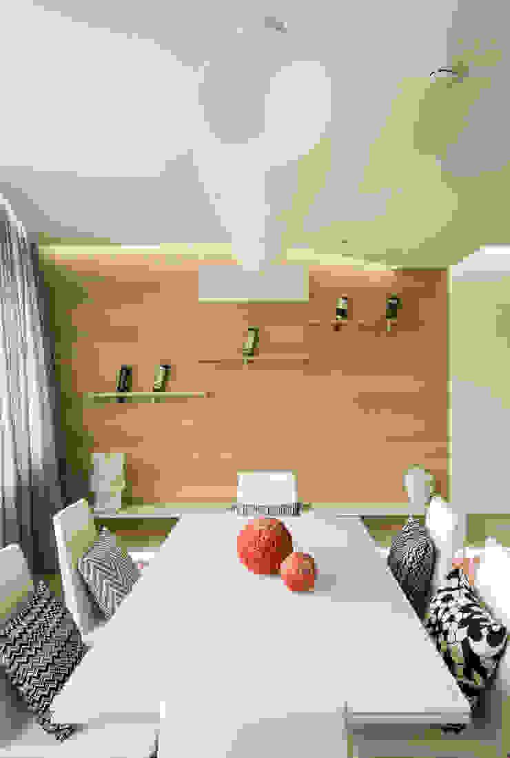 WHITE & WHITE ANNA SHEMURATOVA \ interior design Столовая комната в стиле минимализм