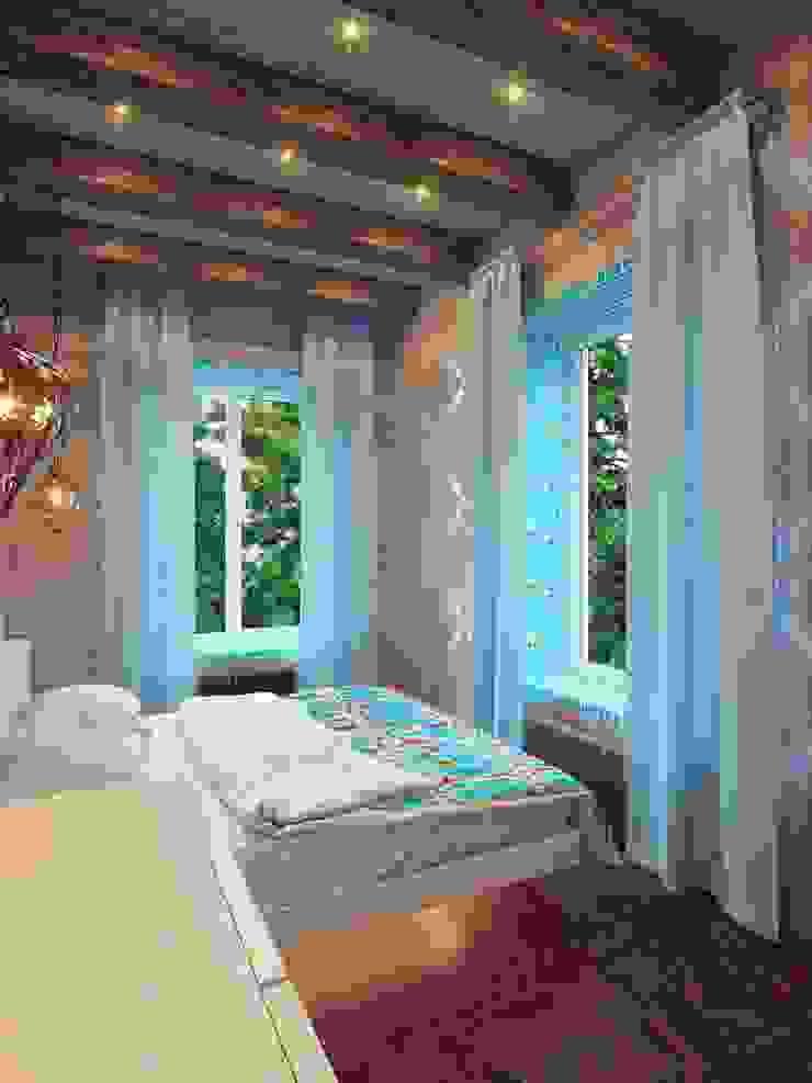 Dormitorios de estilo minimalista de Студия дизайна интерьера 'Золотое сечение' Minimalista Madera Acabado en madera